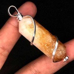 Citrine Terminated Point Gemstone Pendant | Himalayan Salt Factory