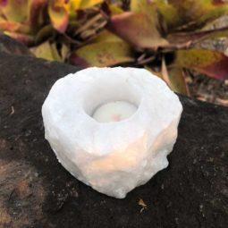 Clear Quartz Tealight Candle Holder 1 | Himalayan Salt Factory