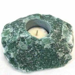 Green Quartz Tealight Candle Holder 2   Himalayan Salt Factory
