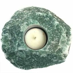 Green Quartz Tealight Candle Holder | Himalayan Salt Factory