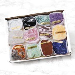 Mixed Crystals Rough - 12 Pieces   Himalayan Salt Factory