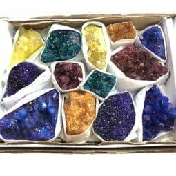 Mixed Crystal Cluster Tray   Himalayan Salt Factory