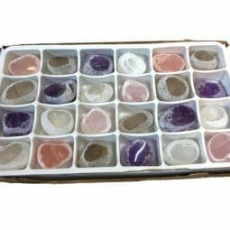 Mixed Crystal Egg Polished - 24 Pieces | Himalayan Salt Factory