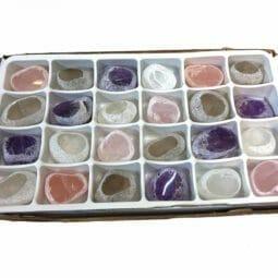 Mixed Crystal Egg Polished - 24 Pieces | Himalayan Salt Factory