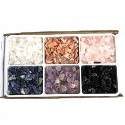 Mixed Crystal Small Pieces Tray | Himalayan Salt Factory
