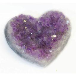 Natural Amethyst Druzy Heart Shape | Himalayan Salt Factory