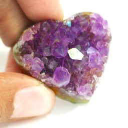 Natural Amethyst Druzy Heart Shape | Himalayan Salt Factory