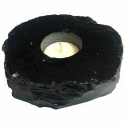 Obsidian Tealight Candle Holder   Himalayan Salt Factory