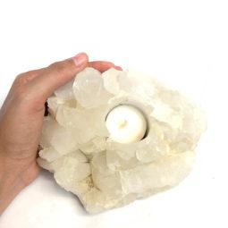 Quartz Tealight Candle Holder 1   Himalayan Salt Factory