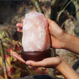 Rose Quartz Crystal Lamp [CRY173] Himalayan Salt Factory