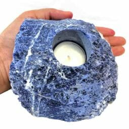 Sodalite Tealight Candle Holder 1 | Himalayan Salt Factory