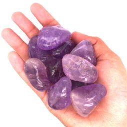 Tumbled Amethyst Gemstones - 250 gr   Himalayan Salt Factory