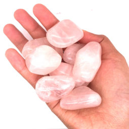 Tumbled Rose Quartz Gemstones - 250 gr | Himalayan Salt Factory