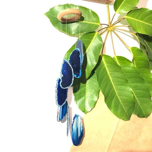 Wind Chime Brazil Agate Blue Slices | Himalayan Salt Factory