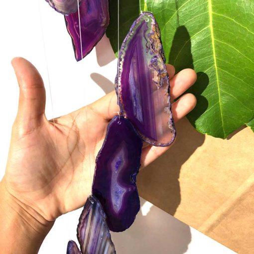 Wind Chime Brazil Agate Purple Slices | Himalayan Salt Factory