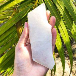 0.60kg Polished Crystal Coaster - Large [4 Pieces] | Himalayan Salt Factory