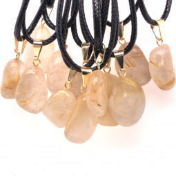 12 x Quartz Tumbled Pendants, Full Rock Crystal BR2269 6 | Himalayan Salt Factory