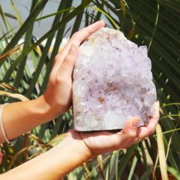 2.48kg Natural Amethyst Lamp [CRY424] | Himalayan Salt Factory