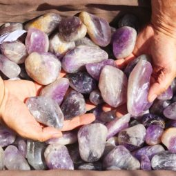 20kg Large Amethyst Gemstones Tumbled Polished | Himalayan Salt Factory