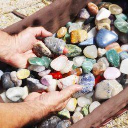20kg Mixed Gemstones Tumbled Polished   Himalayan Salt Factory