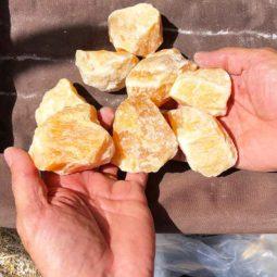 2kg Orange Calcite Gemstone | Himalayan Salt Factory