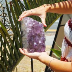 3.20kg Natural Amethyst Lamp [CRY412] | Himalayan Salt Factory