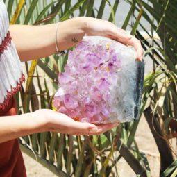 3.90kg Natural Amethyst Lamp [CRY410]   Himalayan Salt Factory