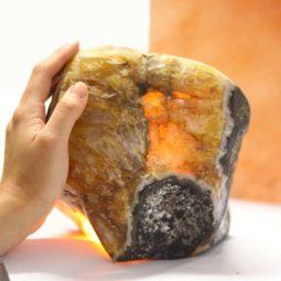 4.15kg Agate Crystal Lamp [CRY602] 1 | Himalayan Salt Factory