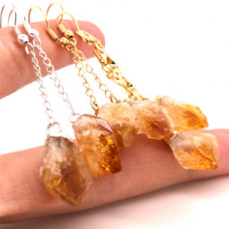 5 x Raw Beautiful Citrine Earrings Lovers - BR 1321 1 | Himalayan Salt Factory