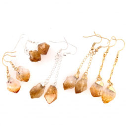 5 x Raw Beautiful Citrine Earrings Lovers - BR 1321 3 | Himalayan Salt Factory