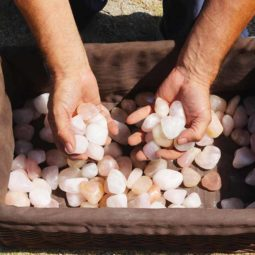 5kg Rose Quartz Creamy Tumbled Polished | Himalayan Salt Factory