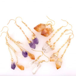 6 x Raw Beautiful and Natural Earrings Lovers - BR 1350 1 | Himalayan Salt Factory