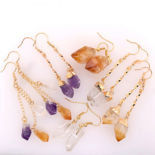 6 x Raw Beautiful and Natural Earrings Lovers - BR 1350 2 | Himalayan Salt Factory