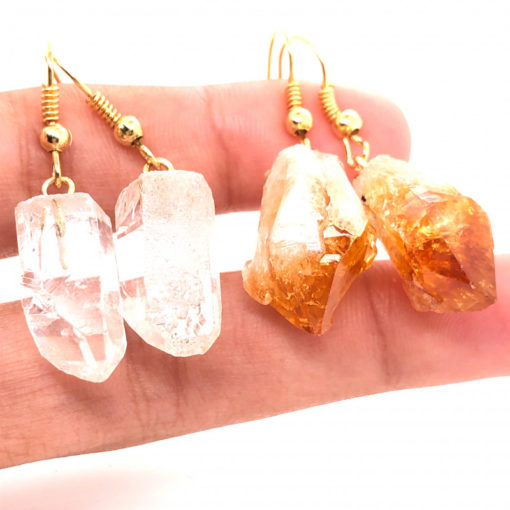 6 x Raw Beautiful and Natural Earrings Lovers - BR 1350 3 | Himalayan Salt Factory