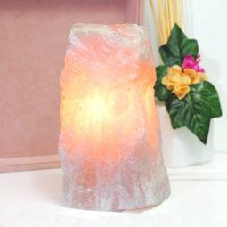 Clear Rose Quartz Crystal Lamp | Himalayan Salt Factory