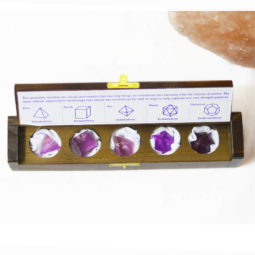 Gemstone Geometric Amethyst Box | Himalayan Salt Factory