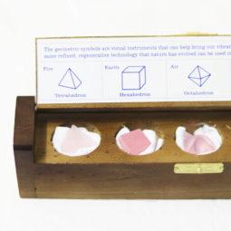 Gemstone Geometric Rose Quartz Box | Himalayan Salt Factory