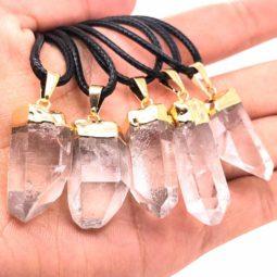 Parcel 5 x Terminated Point Crystal Pendant - BR 1197 2 | Himalayan Salt Factory