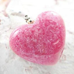 Pink Rhodonite Heart Pendant – Big | Himalayan Salt Factory