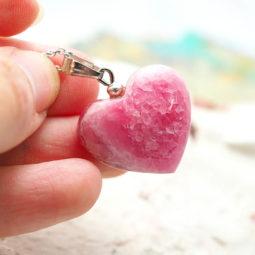 Pink Rhodonite Heart Pendant - Small | Himalayan Salt Factory