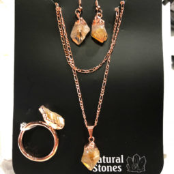 Raw Citrine 5 piece set Ring size 10 Br2283 1 | Himalayan Salt Factory