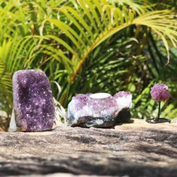 Raw Natural Amethyst Mixed Pieces – 3 Units [MIX11] | Himalayan Salt Factory