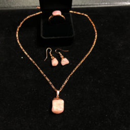 Pink peru opal l Raw Set - High Grade - BR 2524 | Himalayan Salt Factory