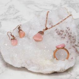 Pink Peru Opal Raw Set – High Grade – BR2524   Himalayan Salt Factory