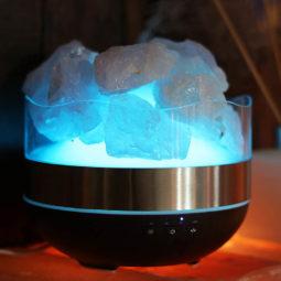Rose Quartz Diffuser Humidifier - Rough Stones | Himalayan Salt Factory