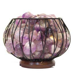 Amethyst Crystal Gemstones Freedom Amore Lamp | Himalayan Salt Factory