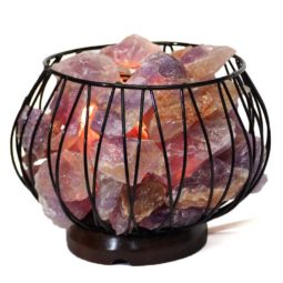 Amethyst Crystal Rock Freedom Amore Lamp | Himalayan Salt Factory