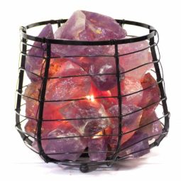 Amethyst Crystal Rock Freedom Capsule Lamp   Himalayan Salt Factory