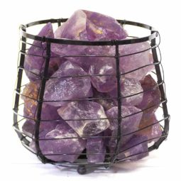 Amethyst Crystal Rock Freedom Capsule Lamp | Himalayan Salt Factory
