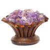 Amethyst Crystal Rock Lotus Lamp | Himalayan Salt Factory
